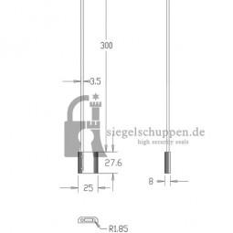 DS3.5 Drahtsiegel-Maßzeichnung