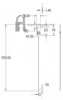 Kunststoffsiegel DSP5.0 Masszeichnung - www.siegelschuppen.de