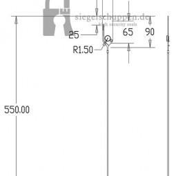 Kunststoffsiegel DSP5.0 Masszeichnung